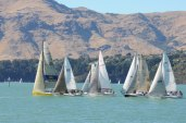 twilight racing Lyttelton Harbour