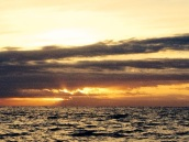 Sunrise over the Pacific Ocean