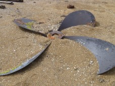 Huge boat propellers left behind
