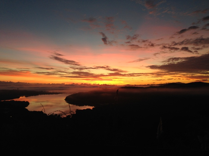 sunrise over the Bay of Islands