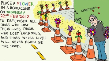 Quake-flower-in-roadcone-ilustration--Henry-Sunderland