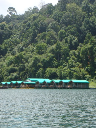 The floating tented camp