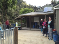 The deck at John Coull Hut