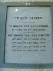 Captain Cook's visits