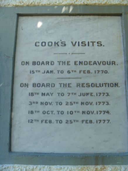 Captain Cook's visits