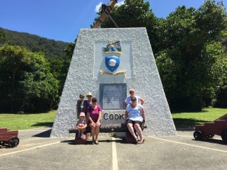 Cook's memorial at Ships Cove