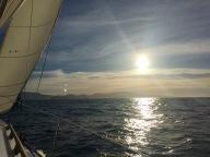 Sun setting over Banks Peninsula