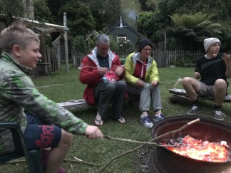 Marshmallows on the campfire