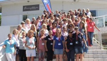 large group of women at sailing conference